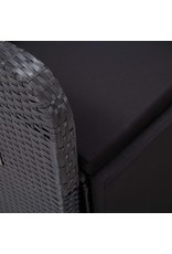 vidaXL 11-delige Tuinset poly rattan acaciahout zwart