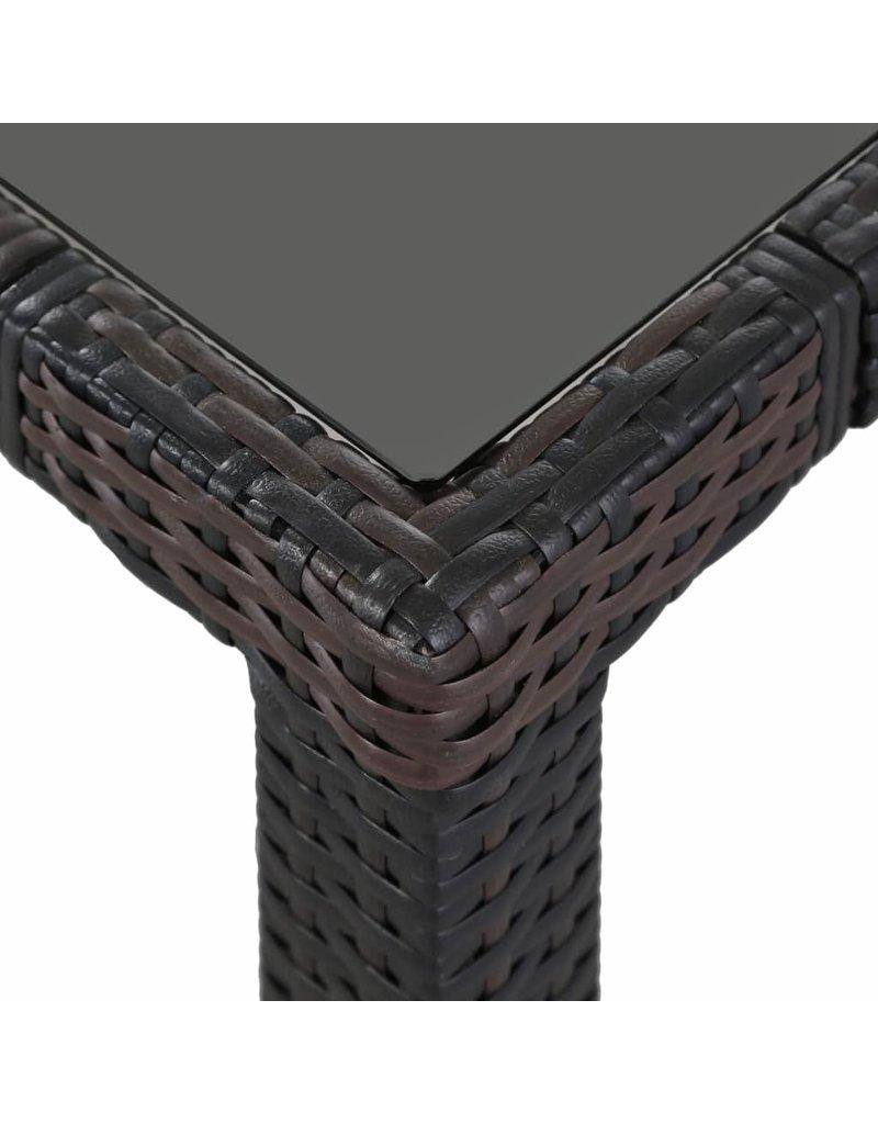 vidaXL 5-delige Tuinset poly rattan bruin