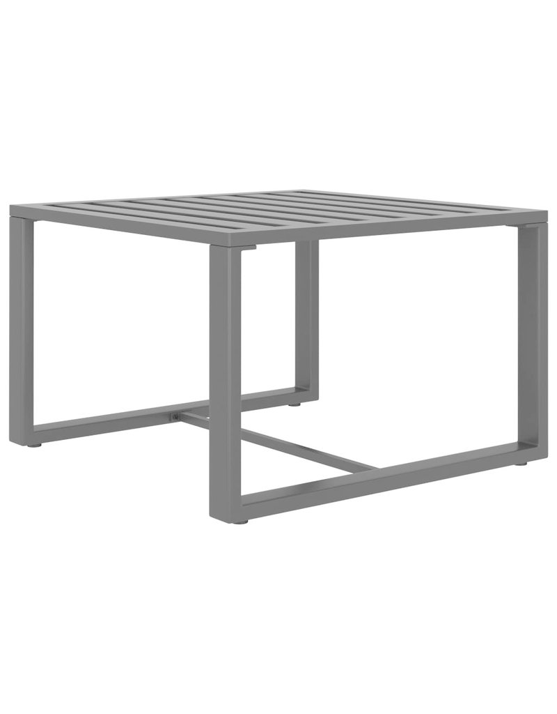 vidaXL 6-delige Loungeset met kussens aluminium antraciet