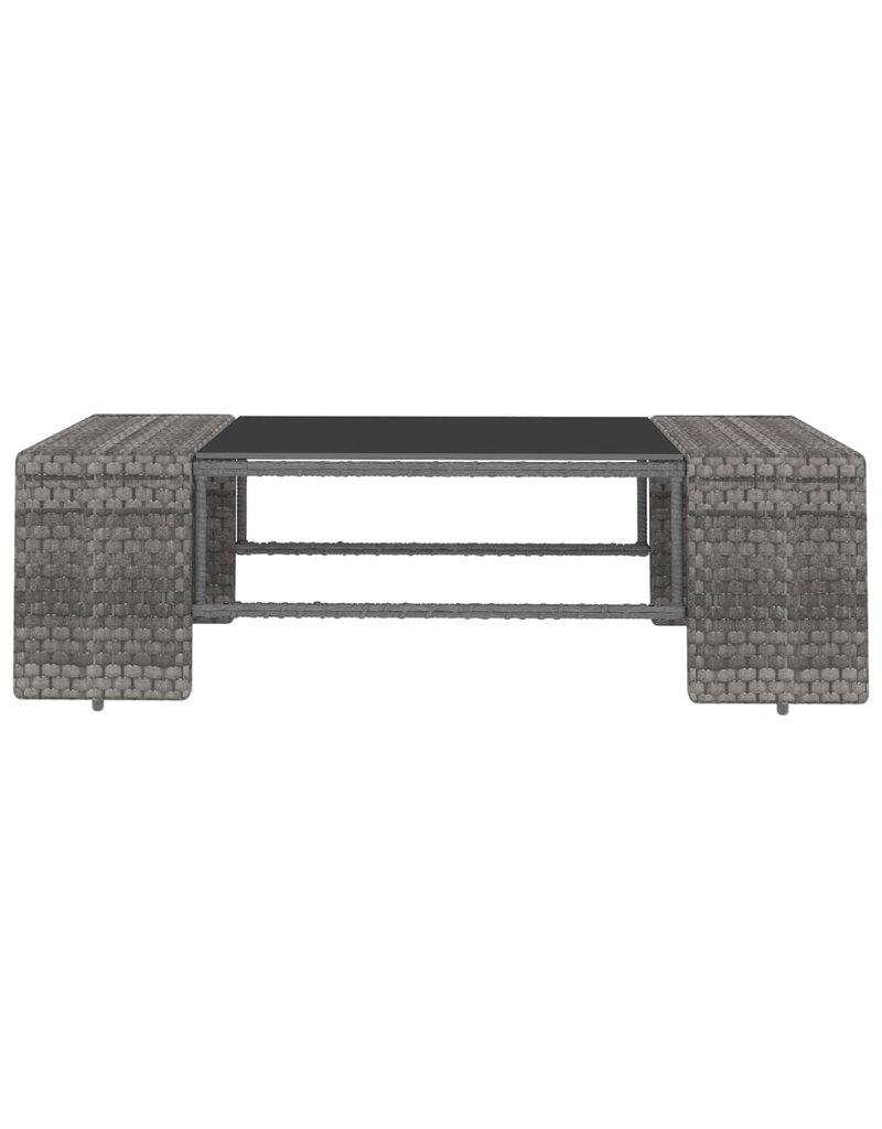 vidaXL 8-delige Loungeset poly rattan grijs