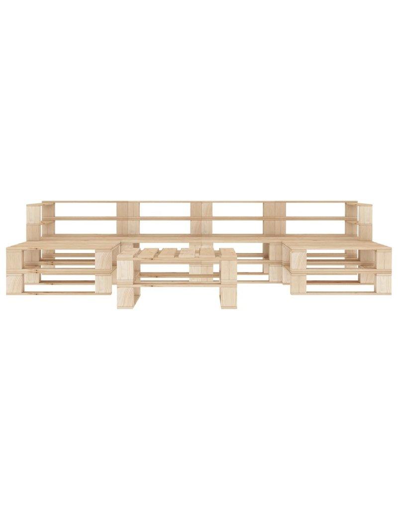 vidaXL 7-delige Loungeset pallet hout