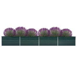 vidaXL Plantenbak verhoogd 600x80x77 cm gegalvaniseerd staal groen
