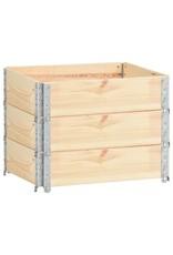 3 st Plantenbakken verhoogd 60x80 cm massief grenenhout