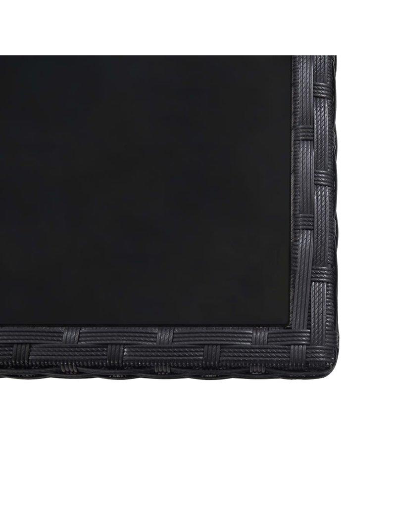 17-delige Tuinset met kussens poly rattan zwart