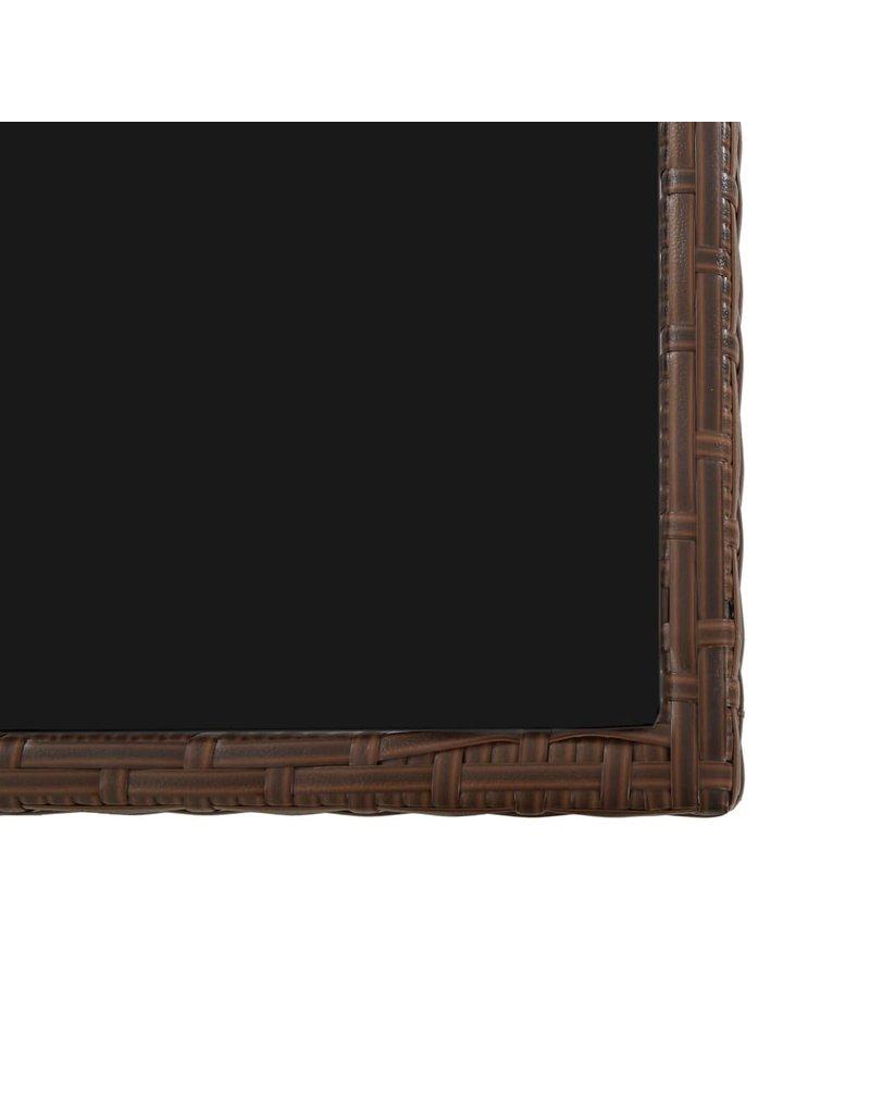 17-delige Tuinset met kussens poly rattan bruin