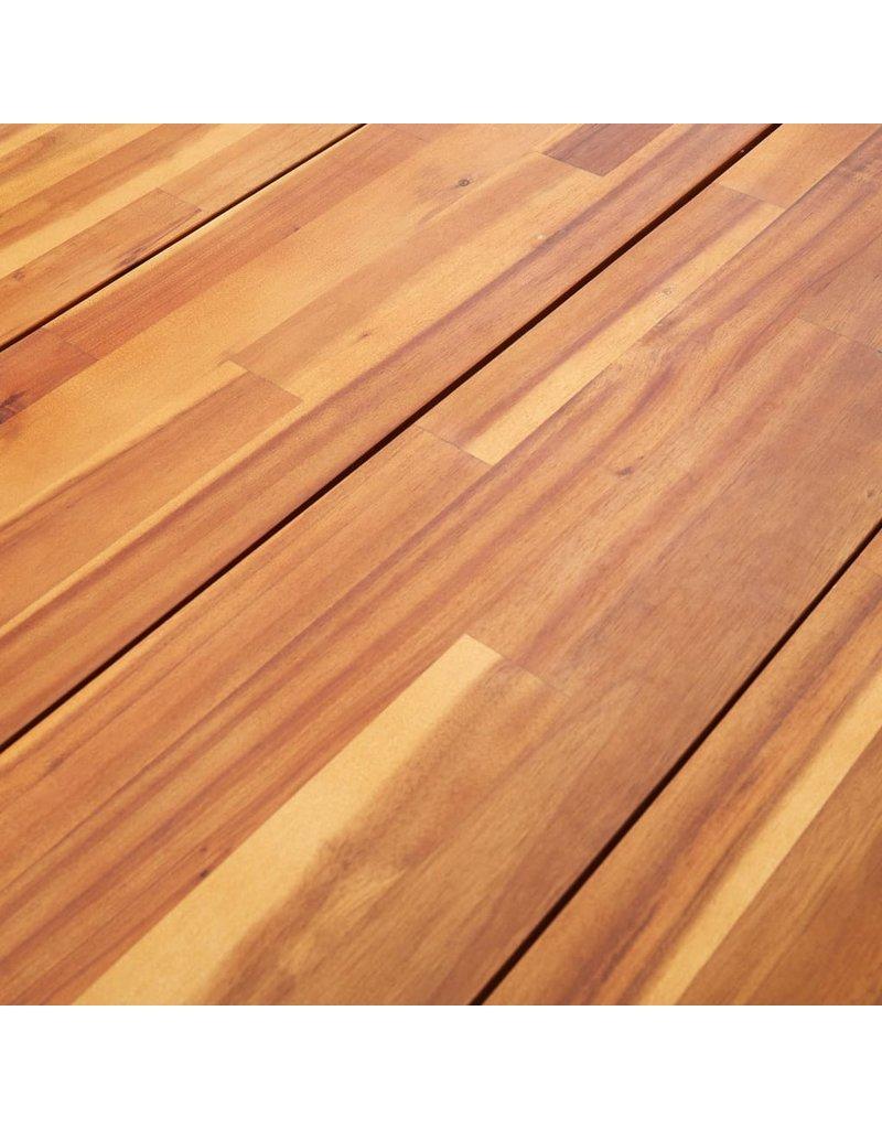 5-delige Tuinset massief acaciahout en poly rattan