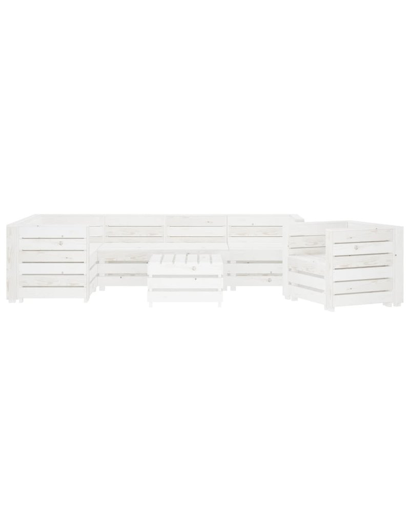 7-delige Loungeset pallet hout wit