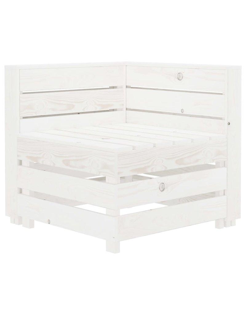 5-delige Loungeset pallet hout wit