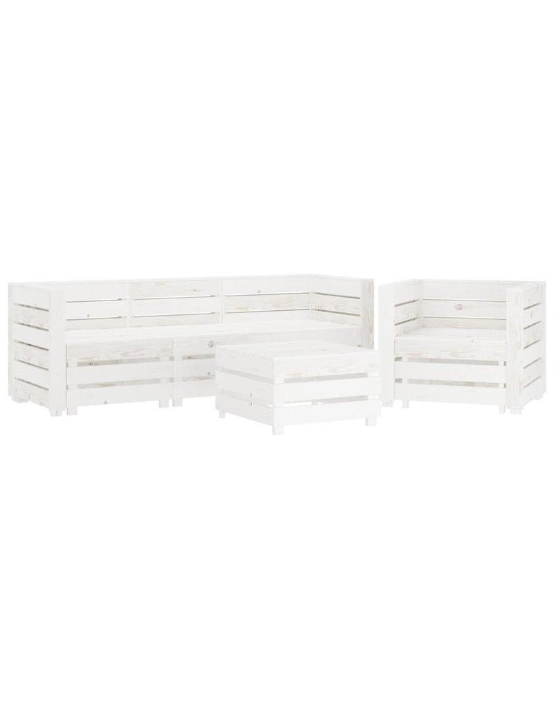 6-delige Loungeset pallet hout wit