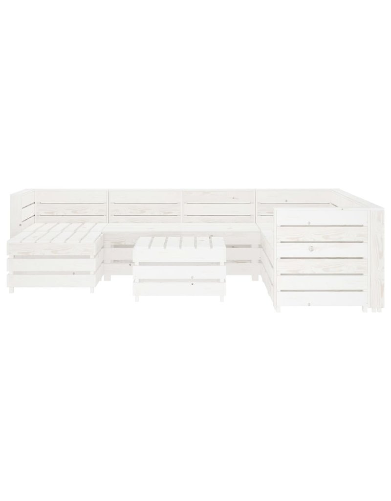 8-delige Loungeset pallet hout wit