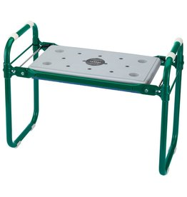 Vouwbare tuinbank/kniebank groen ijzer 64970