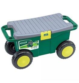 Tuingereedschapswagen en kruk groen 56x27,2x30,4 cm 60852
