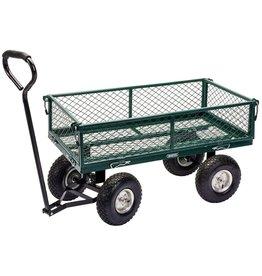 Tuinwagen staalgaas 86,5x46,5x21 cm groen en zwart