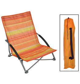 Strandstoel inklapbaar 65x55x25/65 cm oranje
