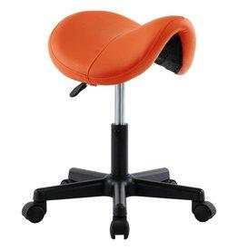 Werkkruk kunstleer oranje