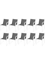 11-delige Tuinset aluminium zwart