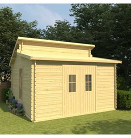 Blokhut 44 mm 415x415x322,1 cm massief grenenhout