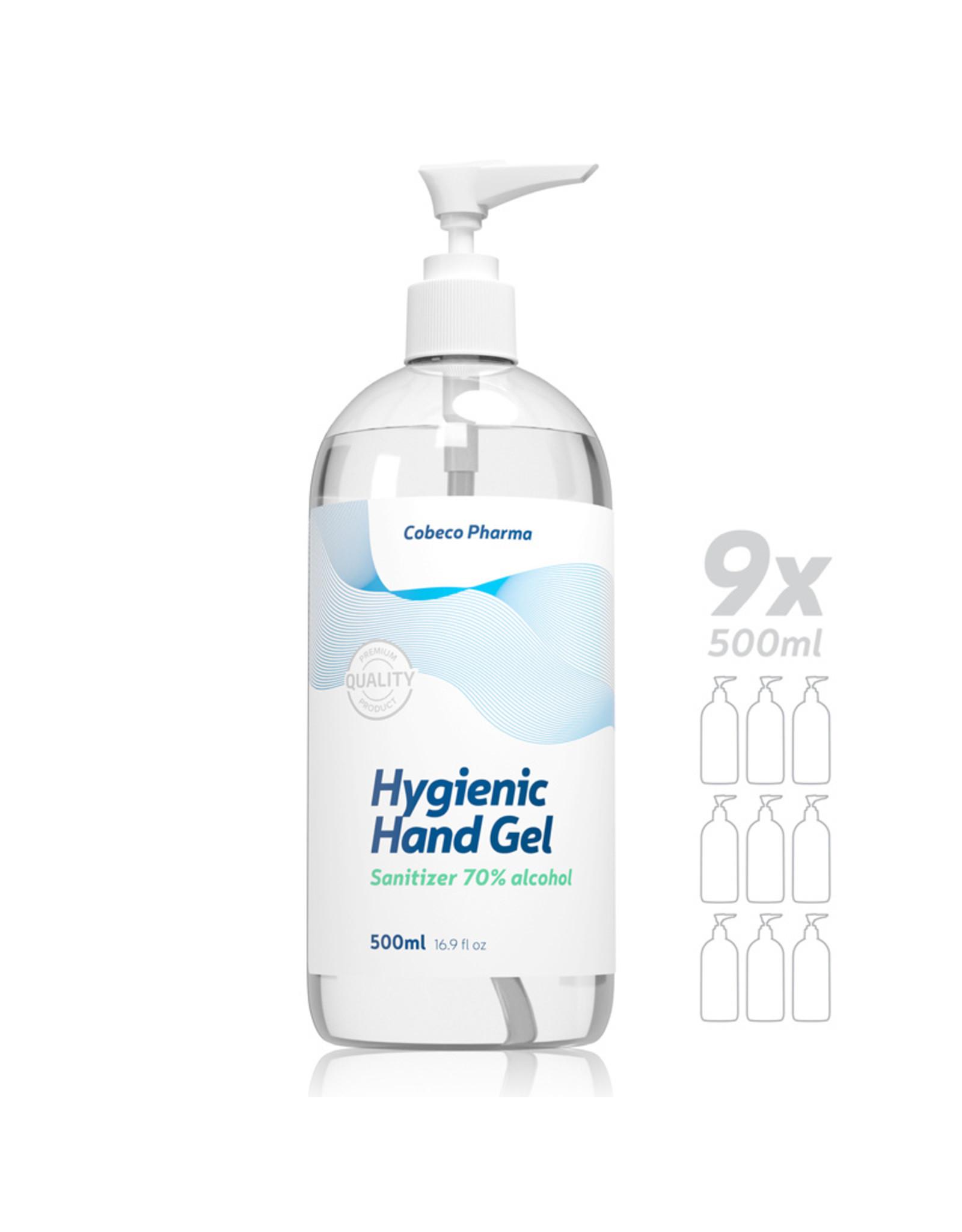 Cobeco Pharma Cobeco Hygienic Handgel (70%alc.) 9 x 500ml