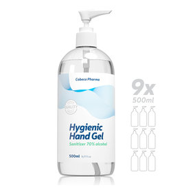 Cobeco Pharma Cobeco Hygienic Hand Gel 9 x 500ml