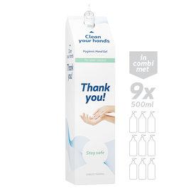 Cobeco Pharma Desinfectie zuil (EN) + handgel