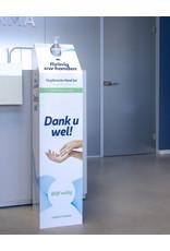 Cobeco Pharma Desinfectie zuil private label met uw logo +  9x500 ml handgel