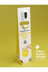 Cobeco Pharma Desinfectiezuil met sensor private label + 9x500ml handgel