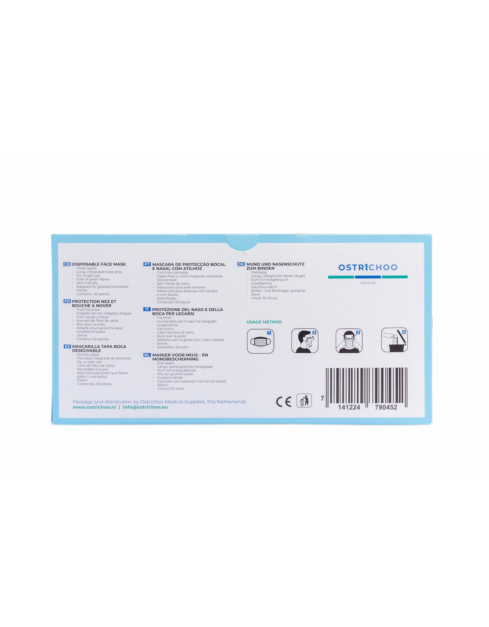 Cobeco Pharma Cobeco Surgical Mask type IIR (50pcs) (en/nl/de/es/fr/it/pt)