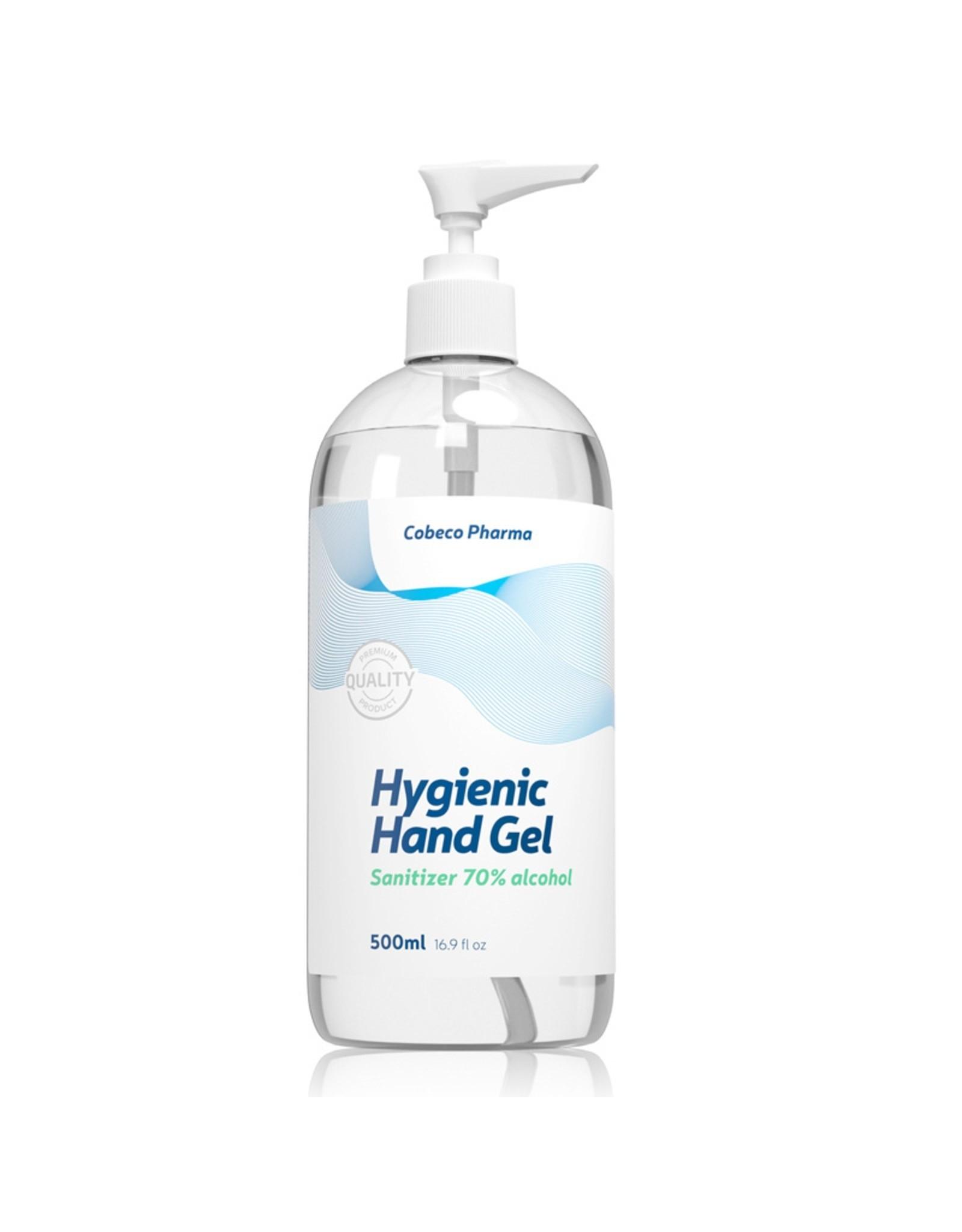 Cobeco Pharma Cobeco Hygienic handalcohol gel (Desinfecterende handalcohol)  (70%alc.) 500ml