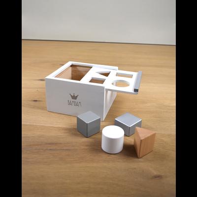BamBam Wooden Block box white