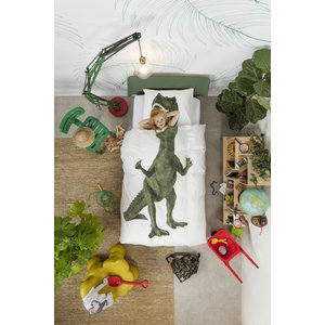 Snurk Dino dekbedovertrek