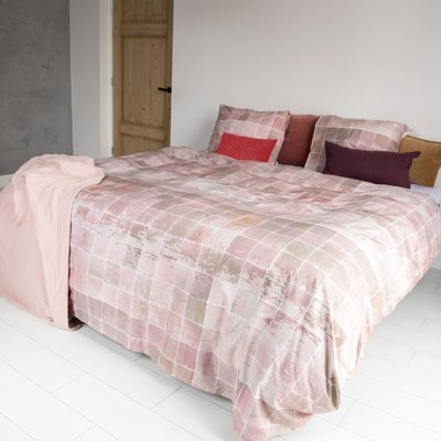 Snurk Tiles vintage rose dekbedovertrek