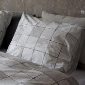 Snurk Tiles pearl white dekbedovertrek
