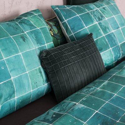 Snurk Tiles Emerald green dekbedovertrek