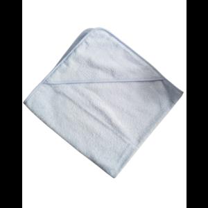 Lichtblauwe badcape