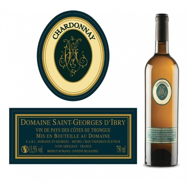 2020 - Saint-Georges d'Ibry - Chardonnay fût - IGP Côtes de Thongue - Languedoc - Frankrijk - Copy