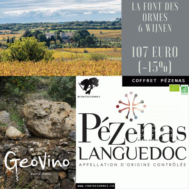 Zomer-actie Domaine La Font des Ormes - AOP Pézenas Languedoc - Frankrijk