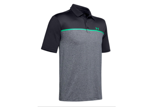 Under Armour UA Playoff Polo 2.0 - Black / Pitch Gray / Vapor Green