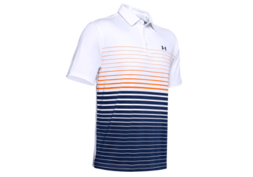 Under Armour UA Playoff Polo 2.0 - White / Orange Spark / Academy