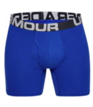 Under Armour UA Charged Cotton 6in 3 Pack-Royal / Academy / Mod Gray Medium Heather