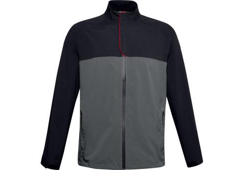 Under Armour UA Elements Rain Jacket-Black / Pitch Gray / Pitch Gray