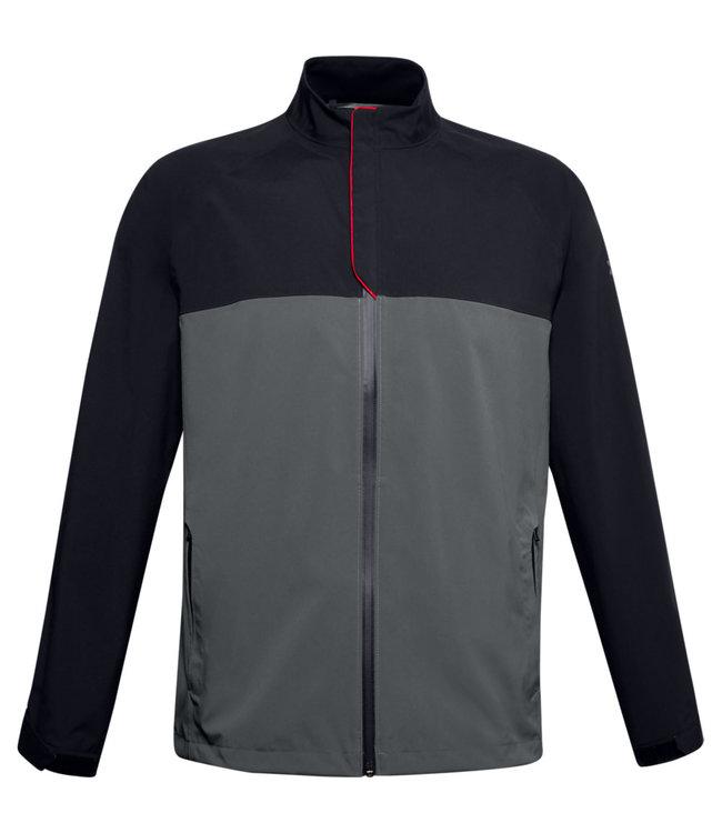Under Armour UA Elements Rain Jacket-Black / Pitch Gray / Pitch Gray