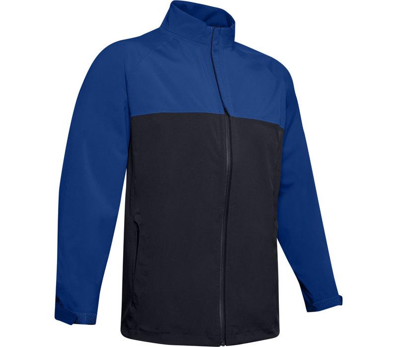 UA Elements Rain Jacket-Royal / Black / Black