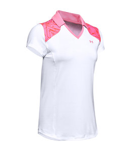 Under Armour UA Zinger Blocked Polo-White / Lipstick / Lipstick