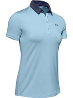 Under Armour UA Zinger Short Sleeve Polo-Blue Frost / / Blue Ink