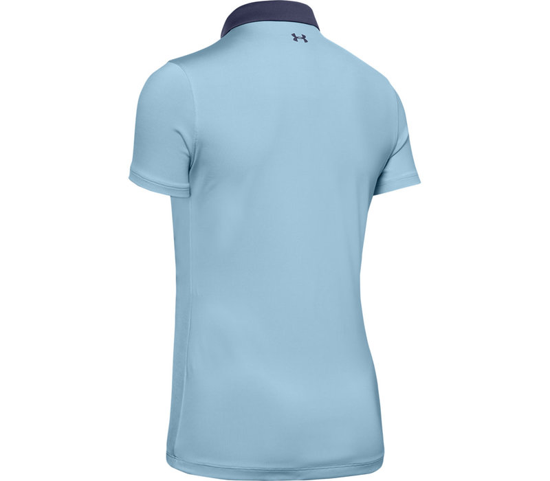 UA Zinger Short Sleeve Polo-Blue Frost / / Blue Ink