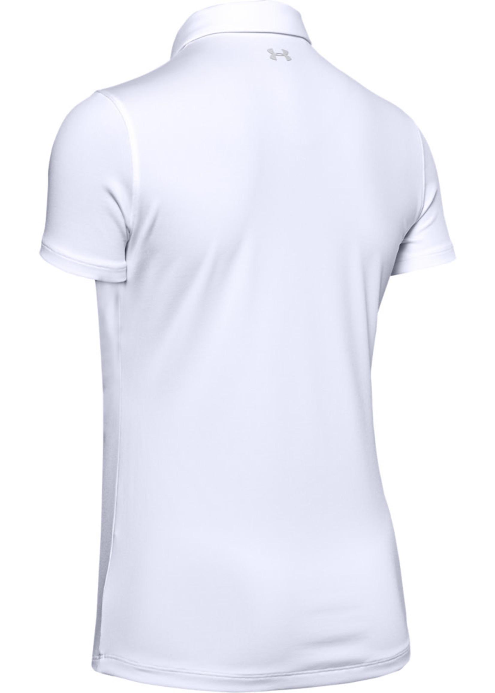 Under Armour UA Zinger Short Sleeve Polo-White / / Halo Gray