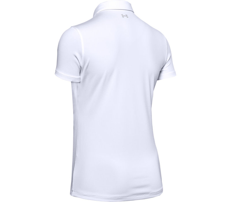 UA Zinger Short Sleeve Polo-White / / Halo Gray