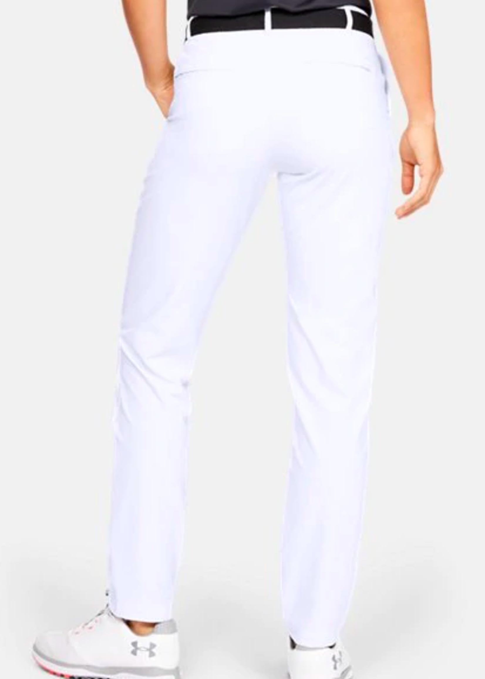 Under Armour UA Links Pant-White / Mod Gray / White