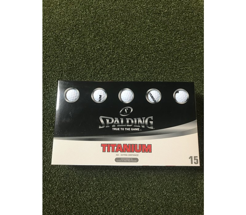 SPALDING TITANIUM 15 PK WHITE
