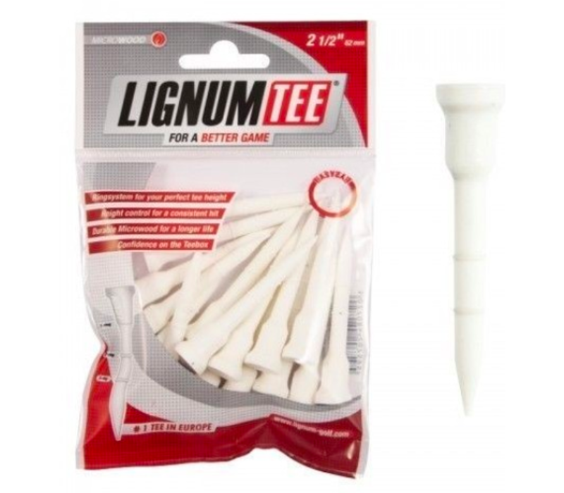 Lignum Tees 62 mm bag 16 pcs White
